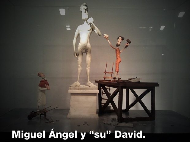 "Miguel Ángel y ""su"" David"